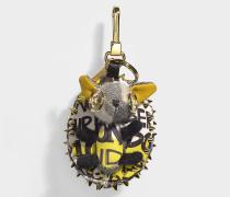 Hedgehog Schlüsselanhänger aus grauem Kaschmir