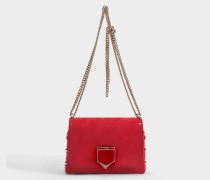 Handtasche Lockett Petite aus rotem Kalbsleder