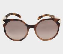0PR 11TS Sonnenbrille aus braunem Acetat