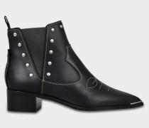 Jexy Ankle Boots aus schwarzem Kalbsleder