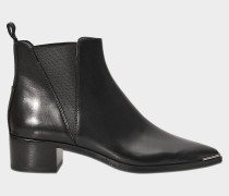 Jensen Flat Stiefel aus schwarzem Kalbsleder