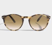Token Sonnenbrille aus braunem Acetat