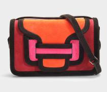Handtasche Alpha aus buntem Kalbsleder in Rot