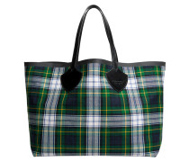 The Giant Reversible Tote Bag aus dunkelblauer und roter Baumwolle