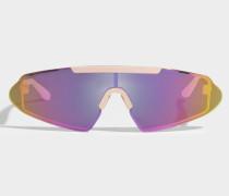 Bornt Sonnenbrille aus rosanemnem Polya mit verpiegelten Gläsern