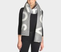 Toronty Logo Schal aus grauer Wolle