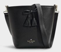 Handtasche Vanessa Hayes Street aus schwarzem Kalbsleder
