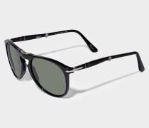 0PO9714S Sonnenbrille aus schwarzem Acetat