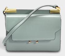 Micro Trunk Tasche aus Mercury und Pearl Glazed Kalbsleder
