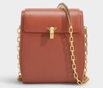 Handtasche PO Box aus braunem Leder