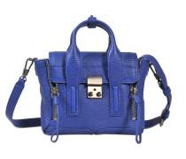 Pashli Mini Satchel Tasche aus Cobalt geprägtem Kuhleder