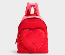 Rucksack Chubby Heart aus Nylon in Rot