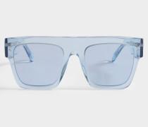 Bio-injected Sonnenbrille aus hell blauem Bio-Acetat