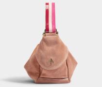 Micro Handtasche Fernweh aus Samt und pflanzlich gegerbtem Kalbsleder in Bunt