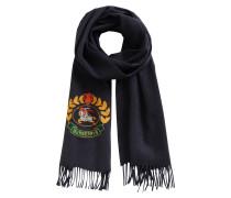 großer Schal mit Stickereien Crest 168x30
