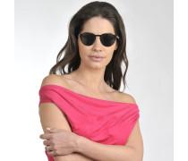 Galleria '900 Sonnenbrille aus braunem Acetat