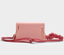Schultertasche Dia aus rosa Kalbsleder