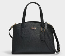 Charlie 28 Carryall in Black Polished Pebble Leather