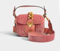 Schultertasche Hidden Lock aus rosa Baumwolle