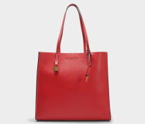 The Grausd Tote Bag aus rotem Kuhleder
