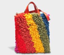 Crossbody Creeper Tasche aus Multi Chunky Wolle