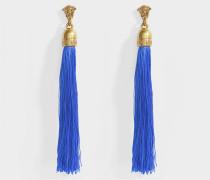 Ohrringe lo und Nappine Tessuto aus blauem Metall