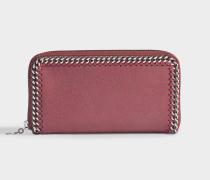 Portemonnaie mit Reißverschluss Falabella aus Shaggy Deer