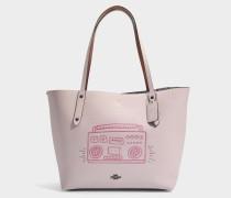 Market Tote Tasche aus Ice rosanem Leder