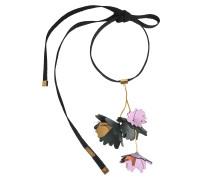 Halskette mit Blumen aus Leder
