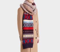 Knitted Patchwork Tuch aus mehrfarbigem Kaschmir
