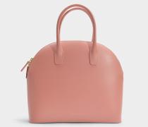 Handtasche Top Handle Rounded aus Kalbsleder Blush