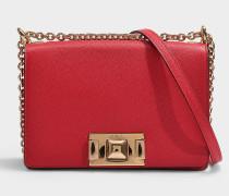Mini Tasche Crossbody  Mimi' aus rotem Kalbsleder