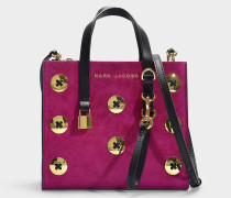 Handtasche The Mini Grind Suede Buttons aus rosa Kalbsleder