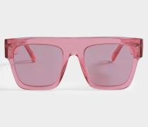 Bio-injected Sonnenbrille aus rosanem Bio-Acetat