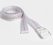 Gürtel Classic Industrial aus weißem Synthetikmaterial
