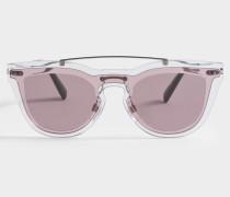 Metall und Nylon Sonnenbrille aus rosanem Metall