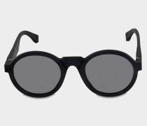 Maison Margiela Raw Sonnenbrille aus Raw schwarzem Acetat