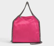 Shaggy Deer Mini Falabella Tote Tasche aus Hot rosanem Eco Leder