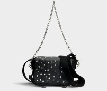 Readymade Studded XS Tasche aus schwarzem Kuhleder