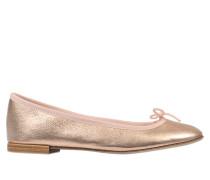 Cendrillon Optik Ballerinas aus goldfarbenem rosanem Kalbsleder