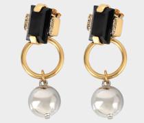 Ohrringe aus Harz und Metall
