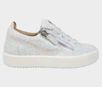 Sneaker aus weißem Glitzer