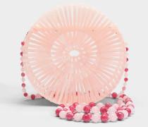 Acryl Luna Tasche aus rosanem Acryl