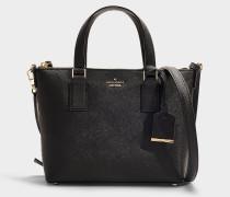 Handtasche mit Schulterriemen Lucie Cameron Street aus schwarzem Kalbsleder
