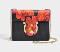 Thalia Crossbody Tasche aus schwarzem Nylon
