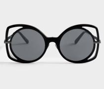 Multi Treatment Sonnenbrille aus schwarzem Acetat
