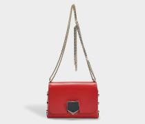 Lockett Petite Tasche aus rotem und Chrome Spazzolato Leder