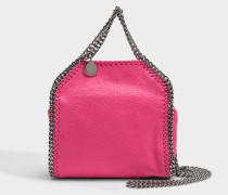 Shaggy Deer Tiny Falabella Tote Tasche aus Hot rosanem Eco Leder