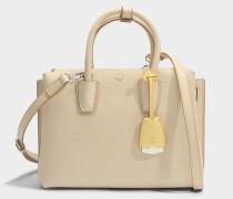 Milla Small Tote Bag aus Latte beigem Park Avenue Leder