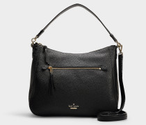 Marci Reese Park Tasche aus schwarzem Leder